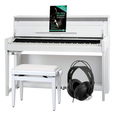 Classic Cantabile UP-1 WM Pianoforte digitale bianco opaco SET deluxe