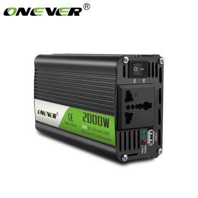 240V AC USB di collegamento con i cavi della batteria con i clip ventilatore incorporato 230V SAILFLO Digital Display Car Power Inverter 2000W 12V DC a Port 220V